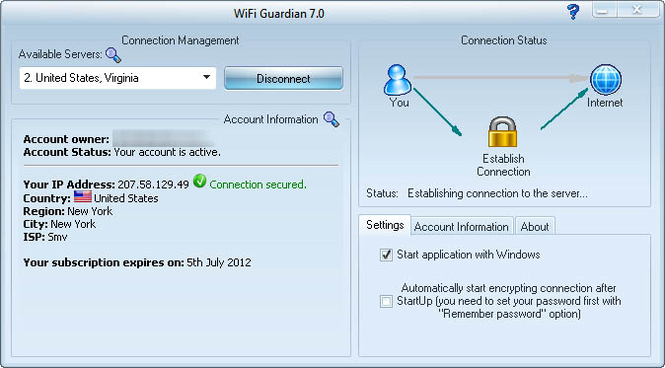 WiFi Guardian 2009 Screenshot 1