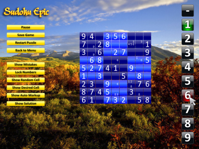 Sudoku Epic (Mac) Screenshot 1