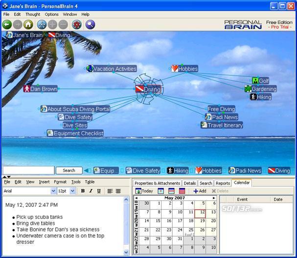 PersonalBrain Win Screenshot