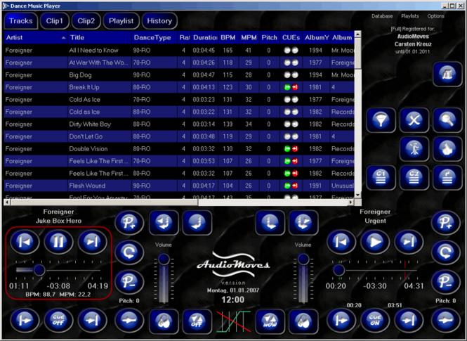 Dance Music Player Screenshot 1