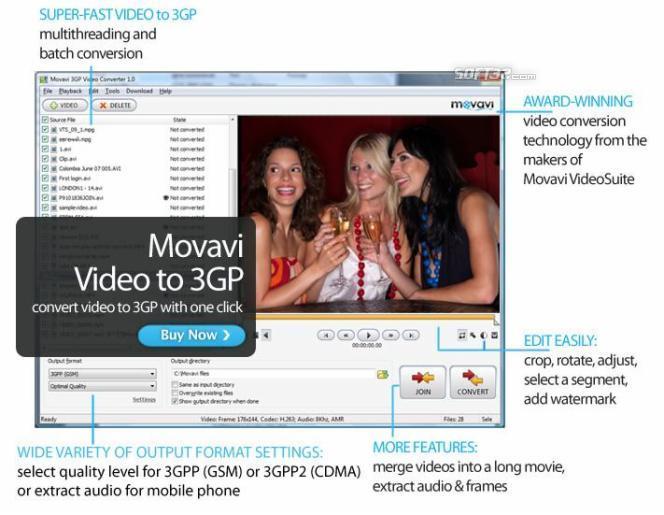 Movavi 3GP Video Converter Screenshot 2