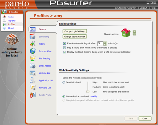 PGsurfer Screenshot 1