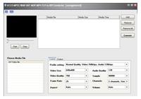 A123 MPEG WMV ASF MOV to AVI Converter Screenshot 1