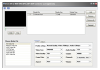 A123 AVI to WMV MPEG MP4 MOV Converter Screenshot