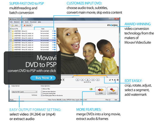 Movavi DVD to PSP Screenshot