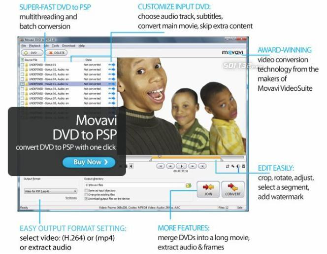 Movavi DVD to PSP Screenshot 2
