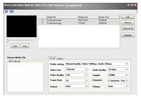 A123 AVI MPEG WMV ASF to 3GP Converter Screenshot