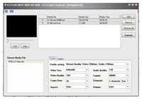 A123 AVI MPEG WMV ASF to Mp4 Converter Screenshot