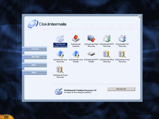 DiskInternals Boot CD Screenshot