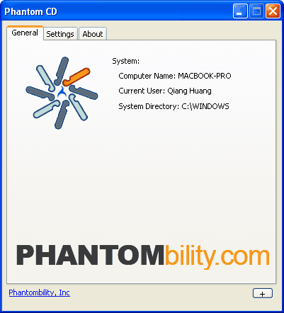 Phantom CD Screenshot