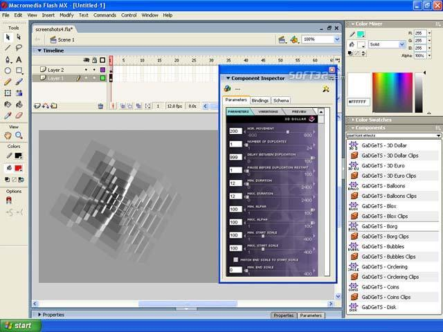 GaDGeTS AS3, Flash Animation Components Screenshot 3