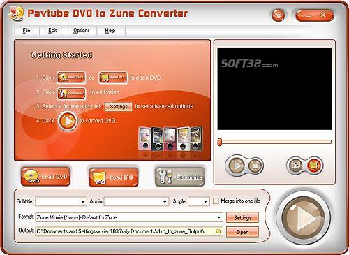 Pavtube DVD to Zune Converter Screenshot 3