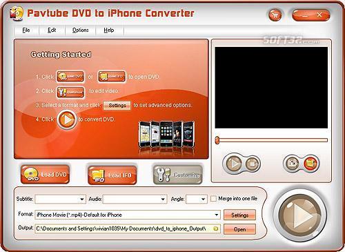 Pavtube DVD to iPhone Converter Screenshot 3