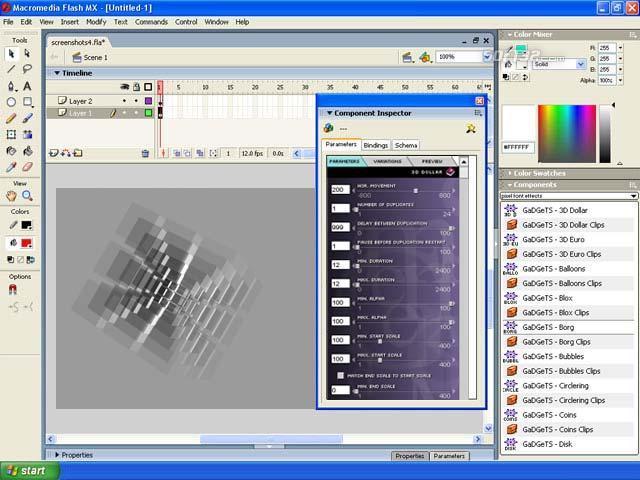 GaDGeTS AS2, Flash Animation Components Screenshot 2