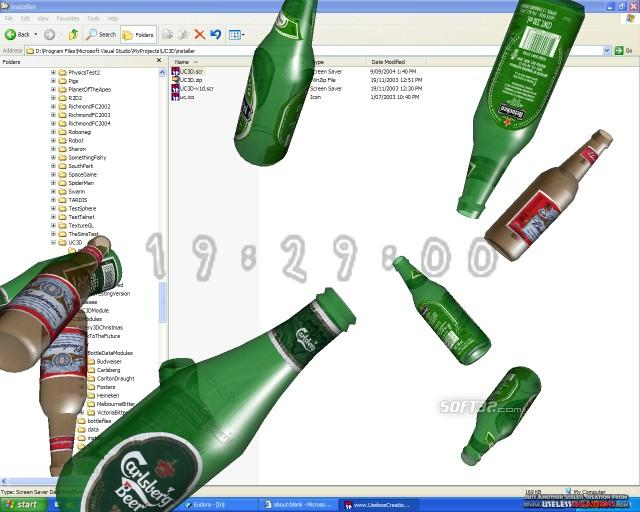 3D Beers of the World Screen Saver Screenshot