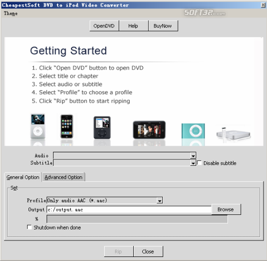 CheapestSoft DVD to iPod Video Converter Screenshot 2