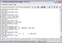 Advanced Modem Data Logger Screenshot