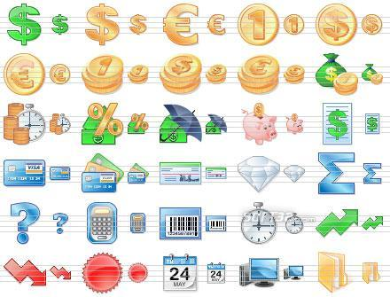 Business Toolbar Icons Screenshot 2