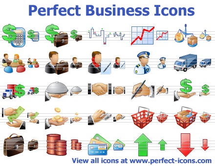Business Toolbar Icons Screenshot