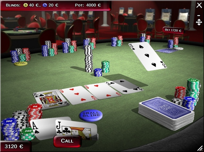 Texas Hold'em Poker 3D-Gold Edition 2008 Screenshot 1