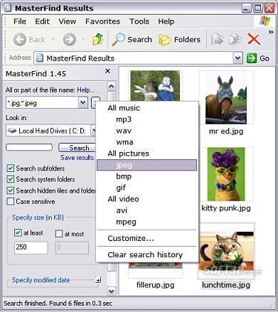 MasterFind Screenshot 2