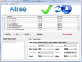 Afree AVI FLV MPEG WMV to Zune converter 1