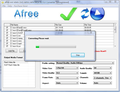 Afree AVI WMV DVD MPEG to FLV Converter 1
