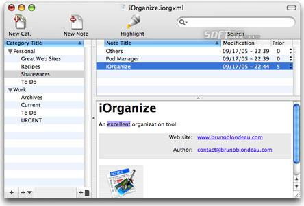 iOrganize Screenshot
