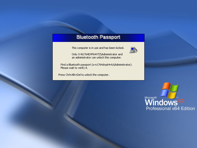 Bluetooth Passport PRO for XP Screenshot