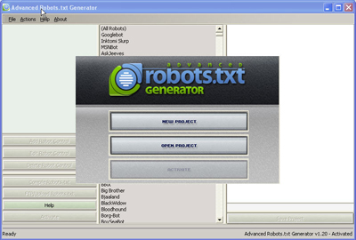 Advanced Robots.txt Generator Professional Screenshot