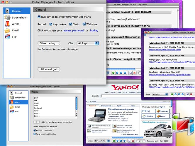 BlazingTools Perfect Keylogger for Mac Screenshot 1
