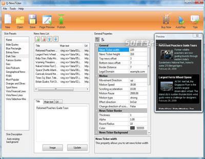 Q-NewsTicker Screenshot 2