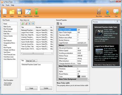 Q-NewsTicker Screenshot