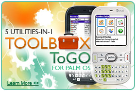 ToolboxToGo for Palm OS Screenshot