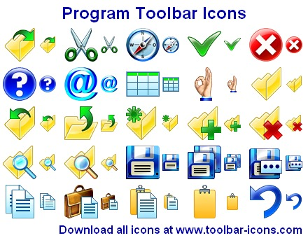 Program Toolbar Icons Screenshot