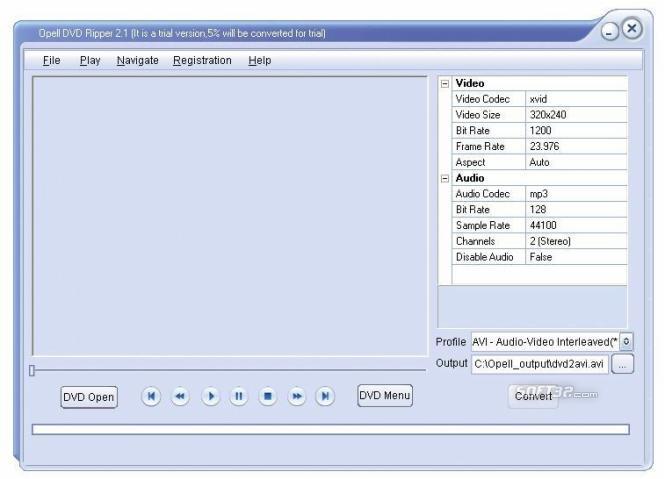 Opell DVD Ripper Pro Screenshot 3