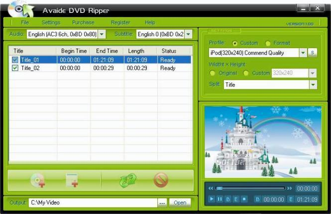 Avaide DVD Ripper Screenshot 2