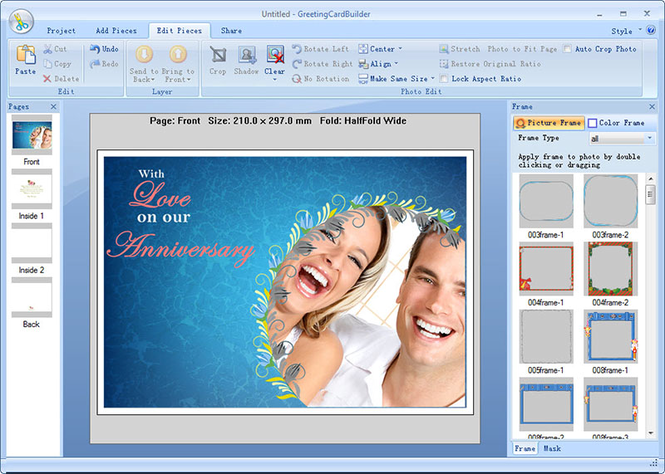Greeting Card Builder Screenshot 1