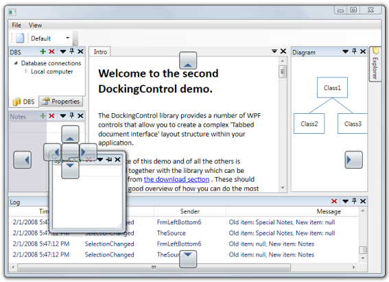Docking control Screenshot
