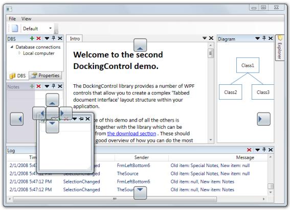 Docking control Screenshot 1