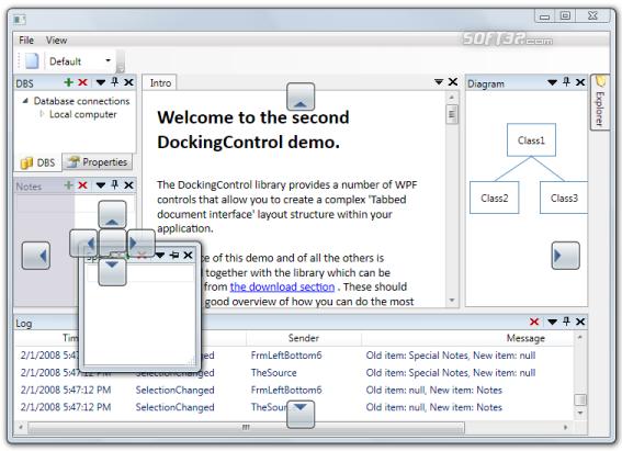 Docking control Screenshot 2