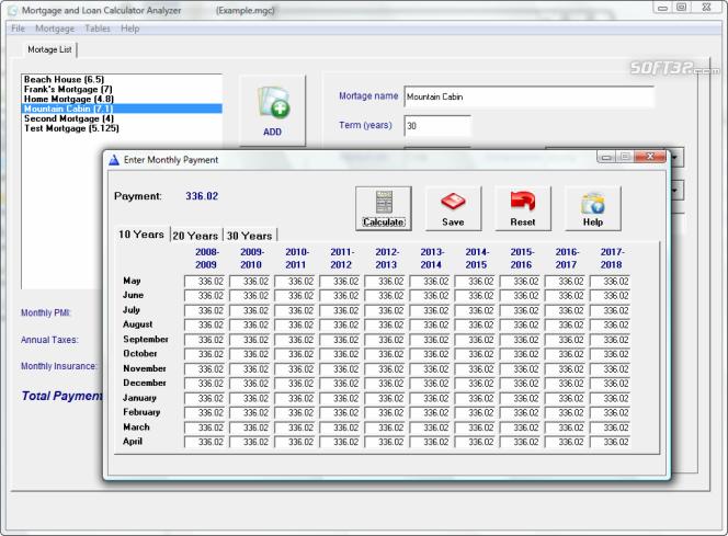 Mortgage and Loan Calculator Analyzer Screenshot 2