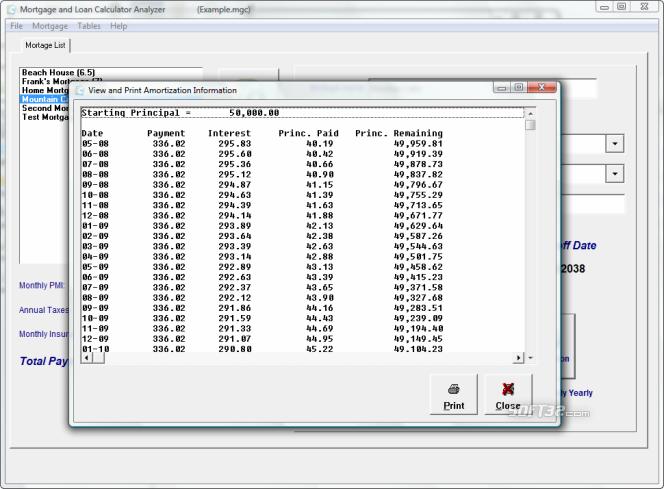 Mortgage and Loan Calculator Analyzer Screenshot 3