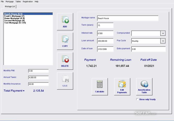 Mortgage and Loan Calculator Analyzer Screenshot 4