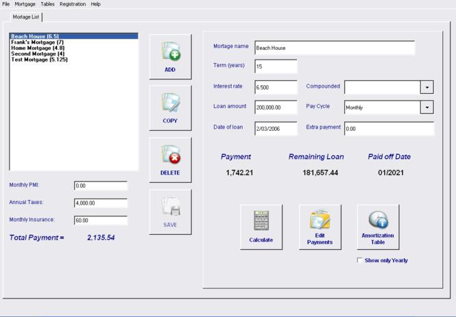 Mortgage and Loan Calculator Analyzer Screenshot 1