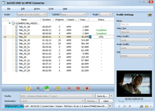 ImTOO DVD to WMV Converter Screenshot 1