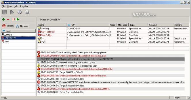 NetShareWatcher Screenshot 2