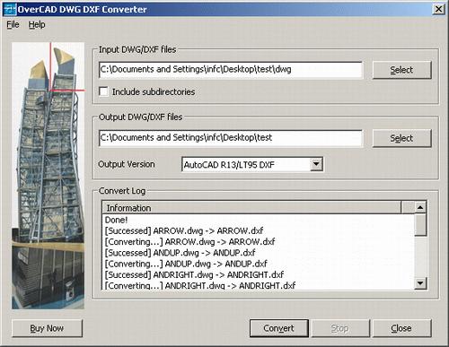 OverCAD DWG DXF Converter Screenshot 1