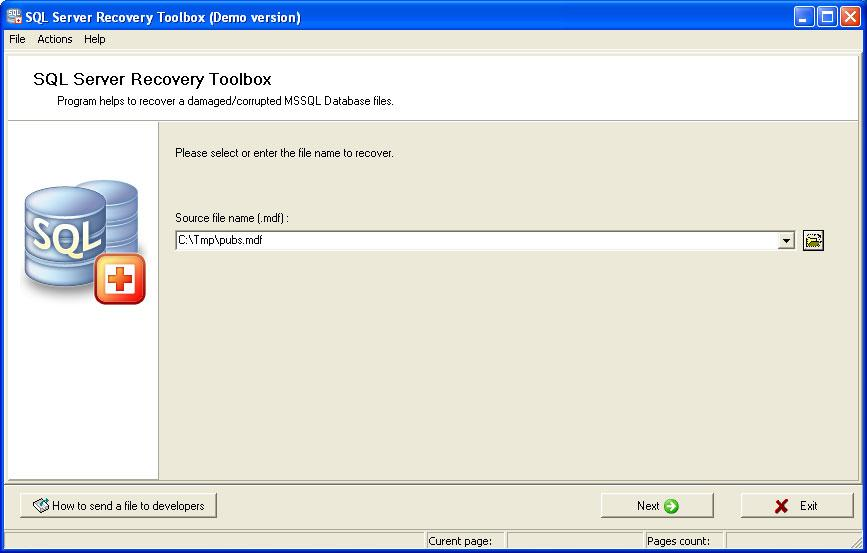 SQL Server Recovery Toolbox Screenshot 2