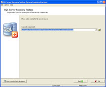 SQL Server Recovery Toolbox Screenshot